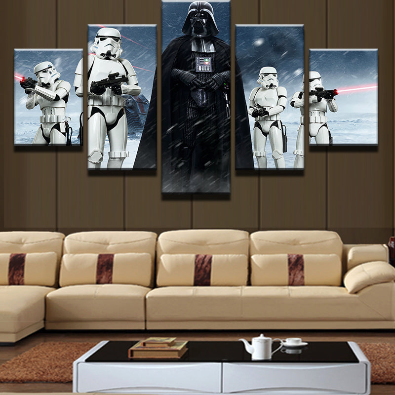 5 Panel Movie Star Wars Canvas - Urban Street Canvas