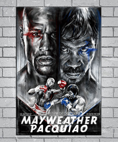 Floyd Mayweather Vs Manny Pacquiao 2015 Canvas