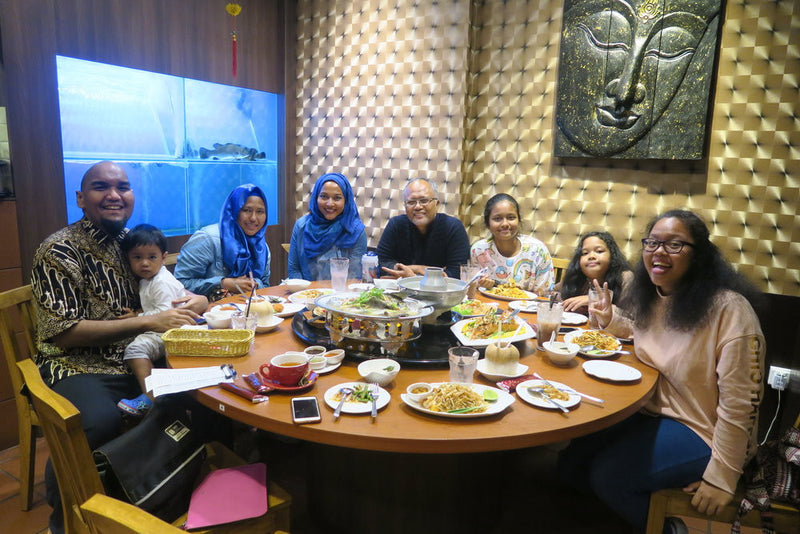 Dinner with Chef Bob's Family
