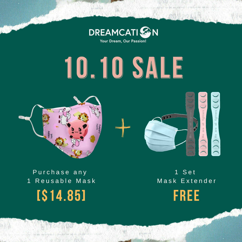 10.10 SALE Reusable Face Mask with Adjustable Strap