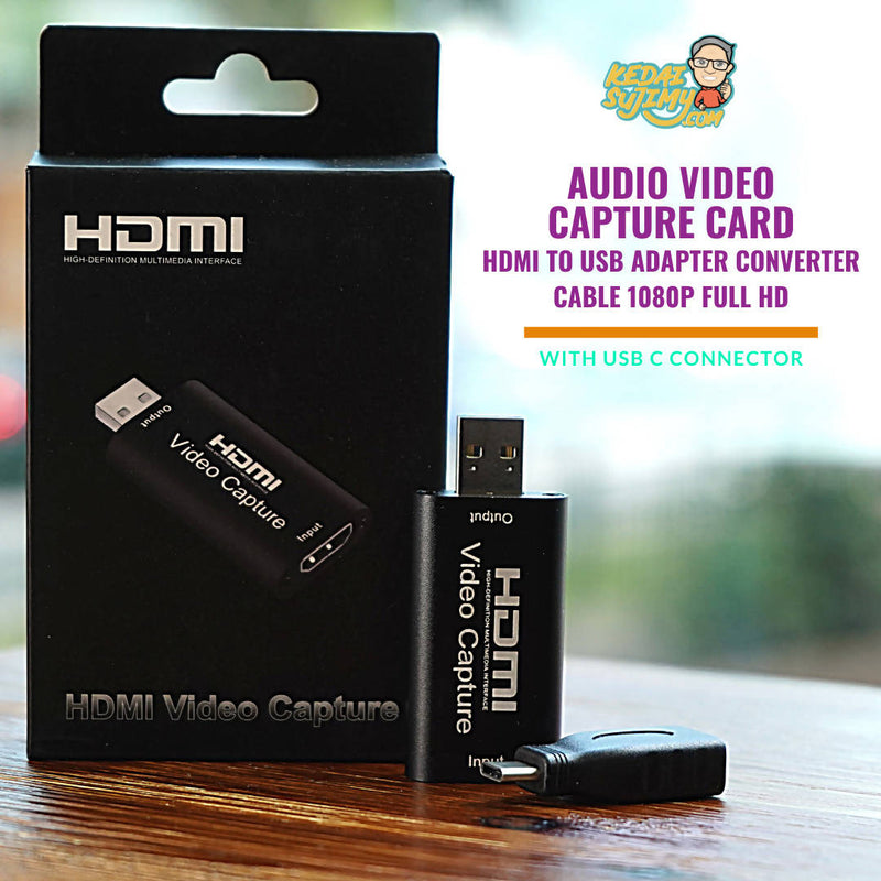 Video Capture Card HDMI to USB Adapter Converter Cable 1080P Full HD (with USB C connector)