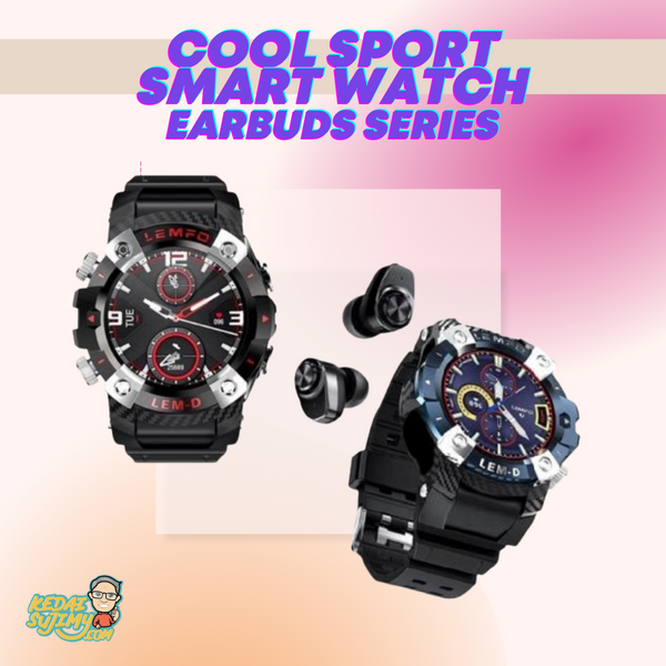 Cool Sport Smart Watch - Earbuds Series