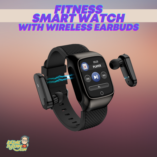Fitness Smart Watch With Wireless Earbuds