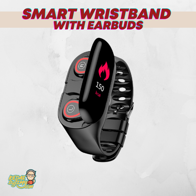 Smart Wristband With Earbuds