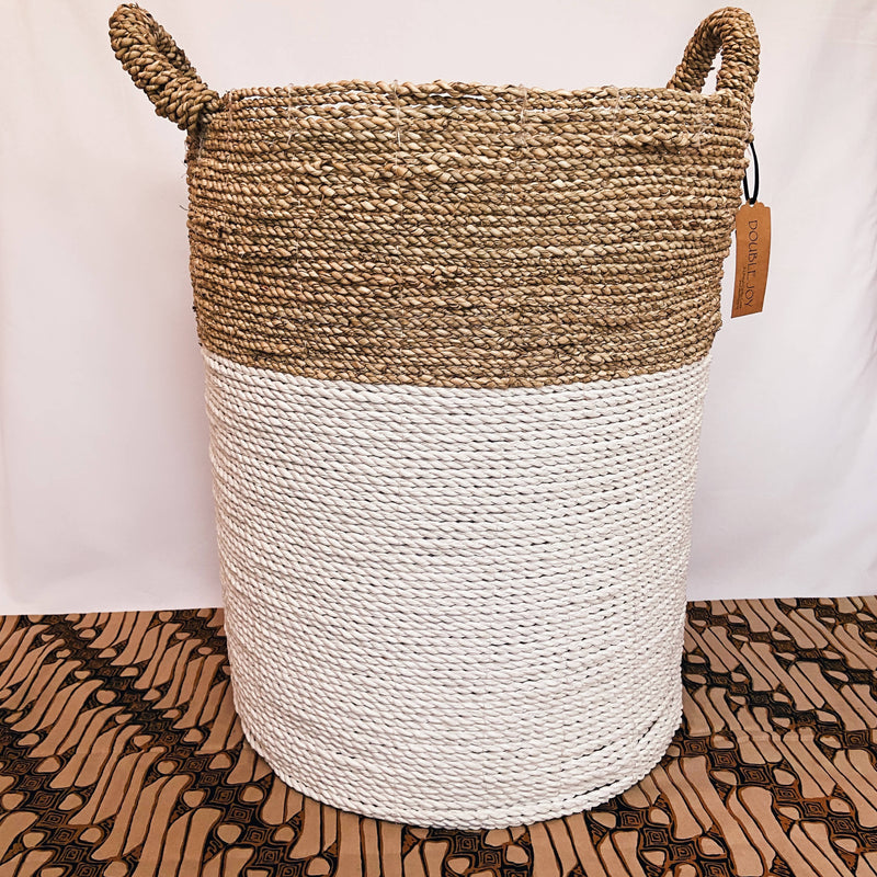 White & Sand Pandan Basket XL