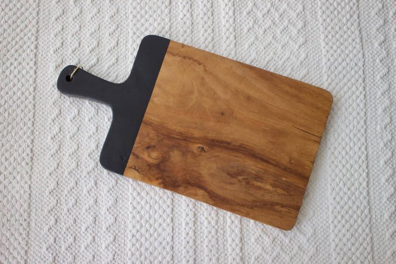 Wooden Chopping Board Black S
