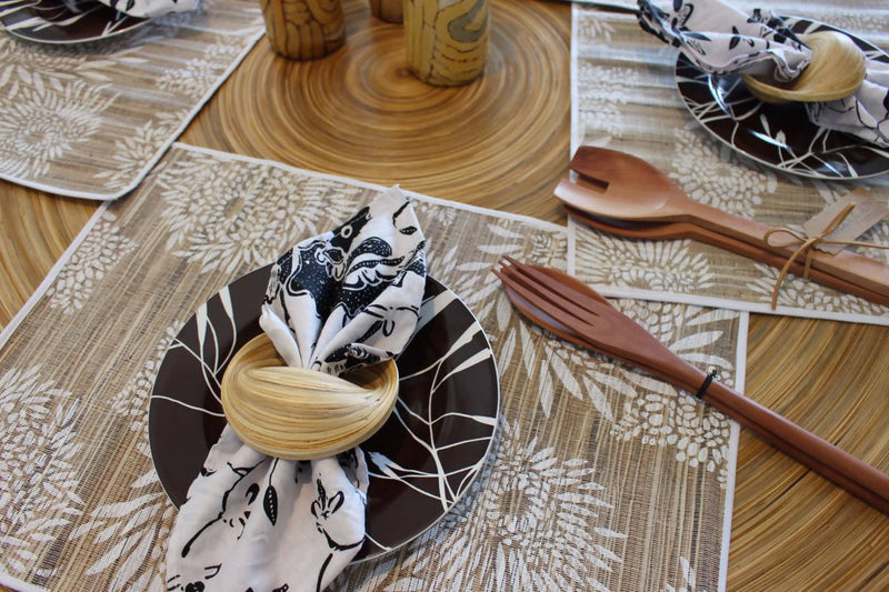 Bamboo Napkin Ring Set of 2