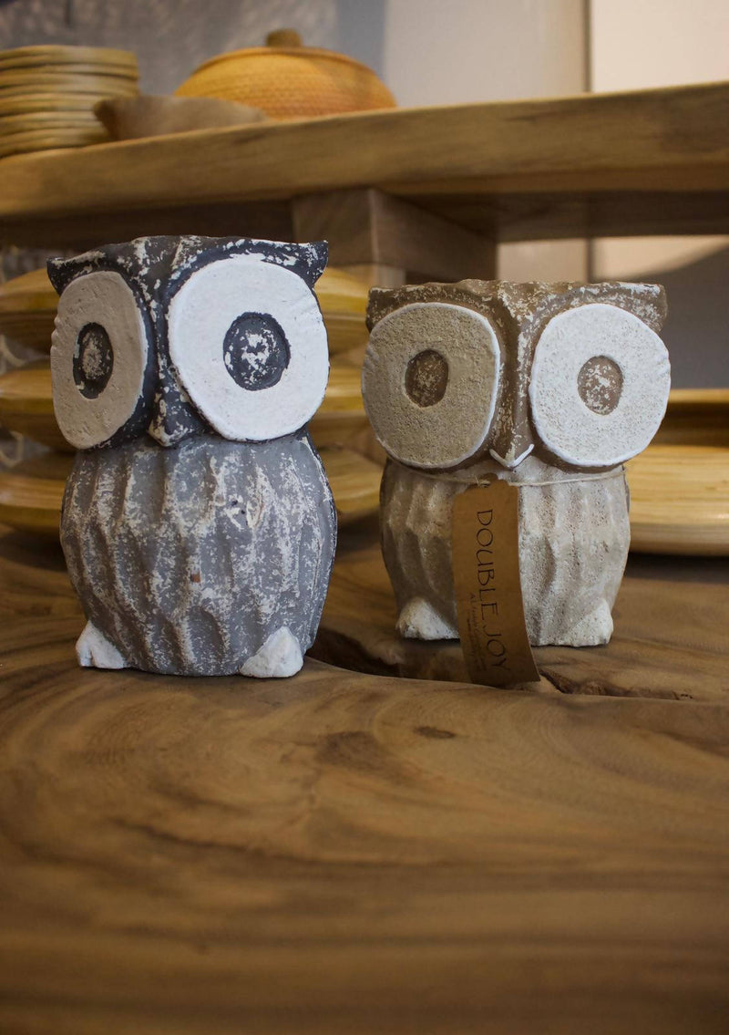 Animal Wood Owl Grey