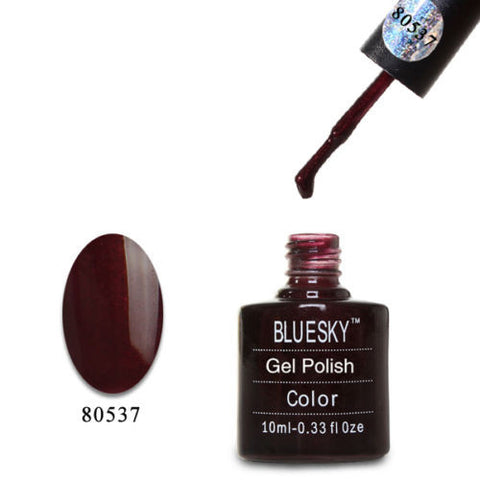 80537 Bluesky Soak Off UV LED Gel Nail Polish Dark Lava Black Cherry 537