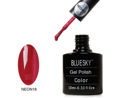 NEON 18 Bluesky Soak Off UV LED Gel Nail Polish Cranberry Summer Red Burgundy