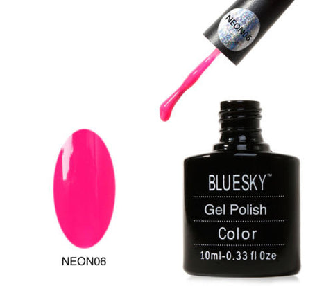 NEON 06 Bluesky Soak Off UV LED Gel Nail Polish Cherise Summer Coral Pink Red