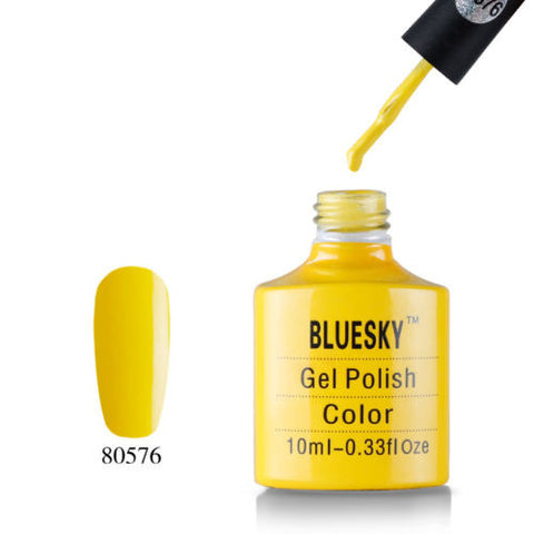 80576 Bluesky Soak Off UV LED Gel Nail Polish Bicycle Yellow Lemon 576