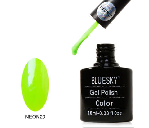 NEON 20 Bluesky Soak Off UV LED Gel Nail Polish Lemon Meets Lime Bright Summer