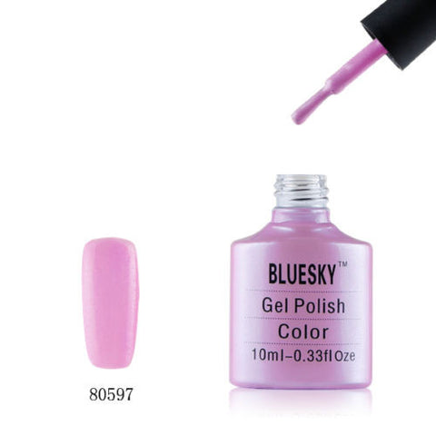 80597 Bluesky Soak Off UV LED Gel Nail Polish Beckoning Begonia Lilac Purple 597