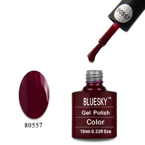 80557 Bluesky Soak Off UV LED Gel Nail Polish Tinted Love Red Burgundy 80557