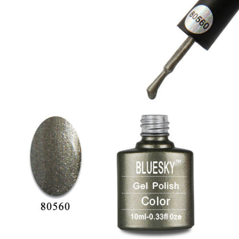 80560 Bluesky Soak Off UV LED Gel Nail Polish Forbidden Pewter STEEL GLAZE 560