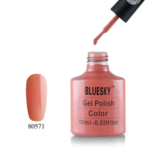 80571 Bluesky Soak Off UV LED Gel Nail Polish Clay Canyon Dark Rose Salmon 571