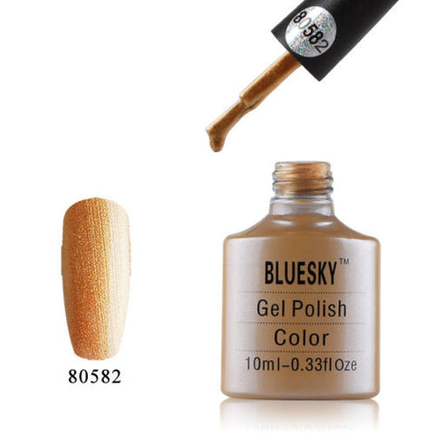 80582 Bluesky Soak Off UV LED Gel Nail Polish Iced Gold Love Locket