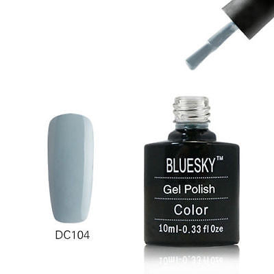 DC104 Bluesky Soak Off UV LED Gel Nail Polish Stormy Gray Blue Ash 10ml