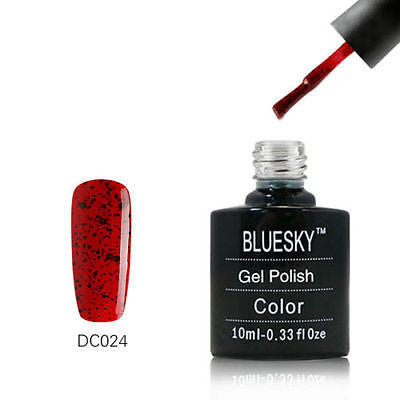 DC024 Bluesky Soak Off UV LED Gel Nail Polish Tomato Red Black Pepper 10ml