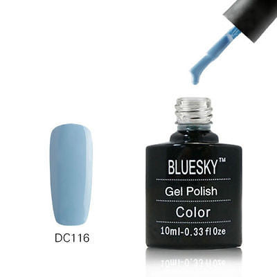 DC116 Bluesky Soak Off UV LED Gel Nail Polish Neon Blue Gray Hints 10ml
