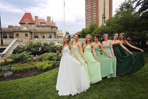 a-line chiffon floor length bridesmaid dress