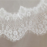 Wedding Veil One-tier Fingertip Lace Applique Tulle5