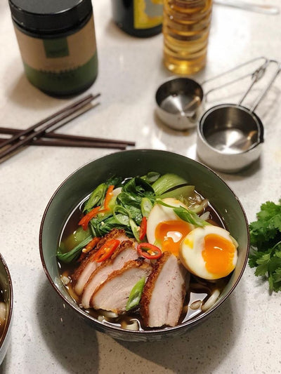 Pork Belly, Bone Broth Noodle Soup