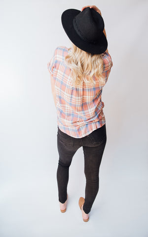 Nelli Plaid Button-Down