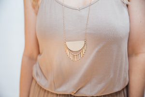 Ivy Boho Fringe Necklace