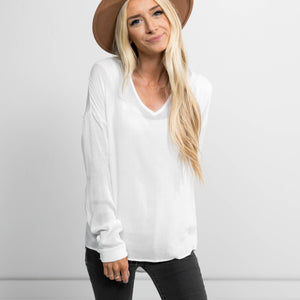 Ayven Long Sleeve Top in Ivory