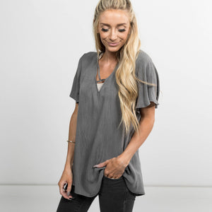 Zoey Criss Cross Tee