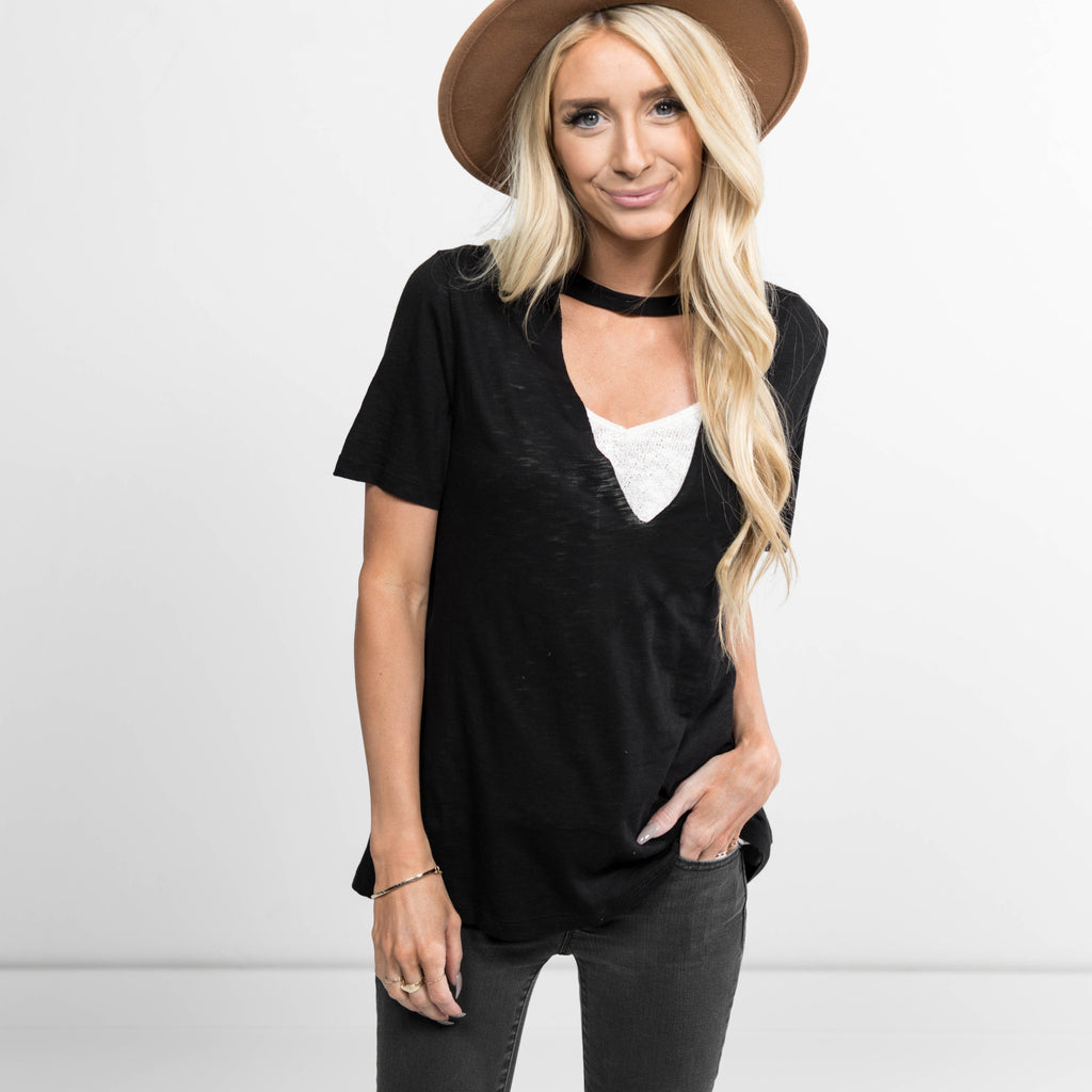Lollie Choker Tee in Black