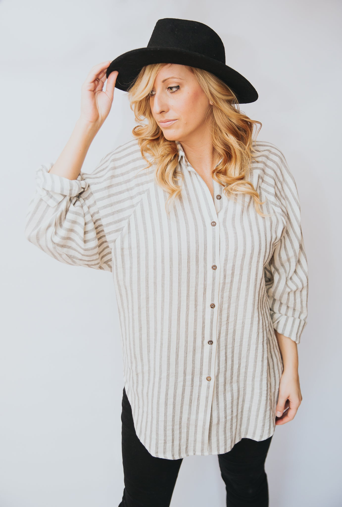 Fiona Striped Button-Down