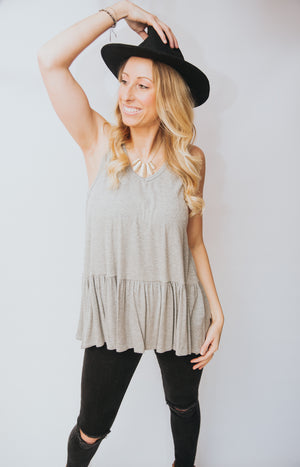 Emmi Sleeveless Ruffle Top