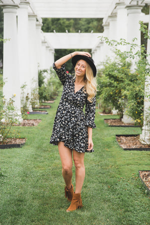 Scarlett Floral Wrap Dress