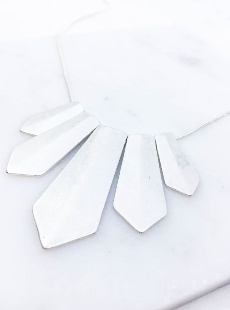Evie Necklace in Silver and Gold