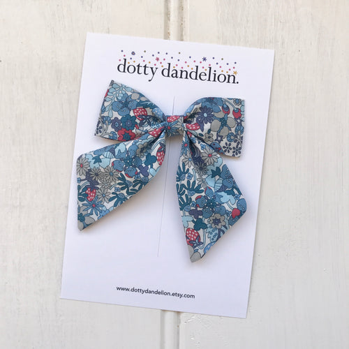 'Blueberry' Liberty Party Bow