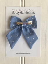 Chambray Swiss Dot Party Bow