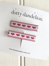 Valentine Vintage Ribbon Bar Clips