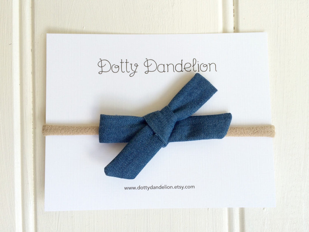 Denim Mini Classic Headband