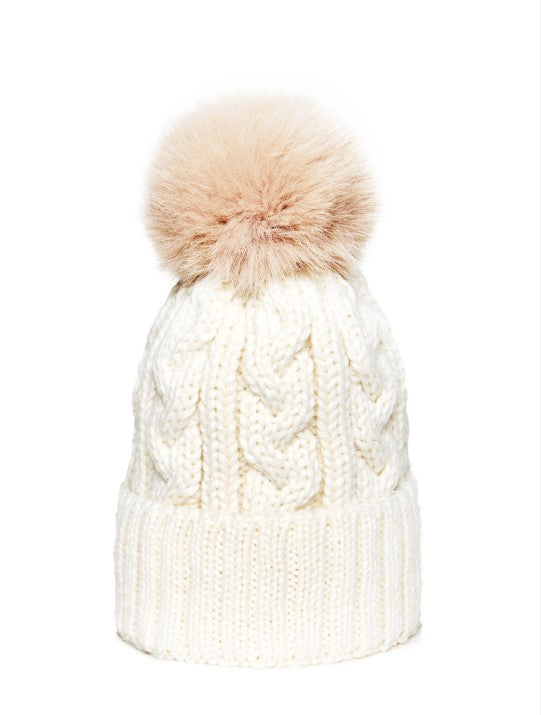 Soft Chapka Shadowfox Wool Hat - Off White