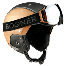 Load image into Gallery viewer, Bogner Bamboo Motorcycle Helmet - Black