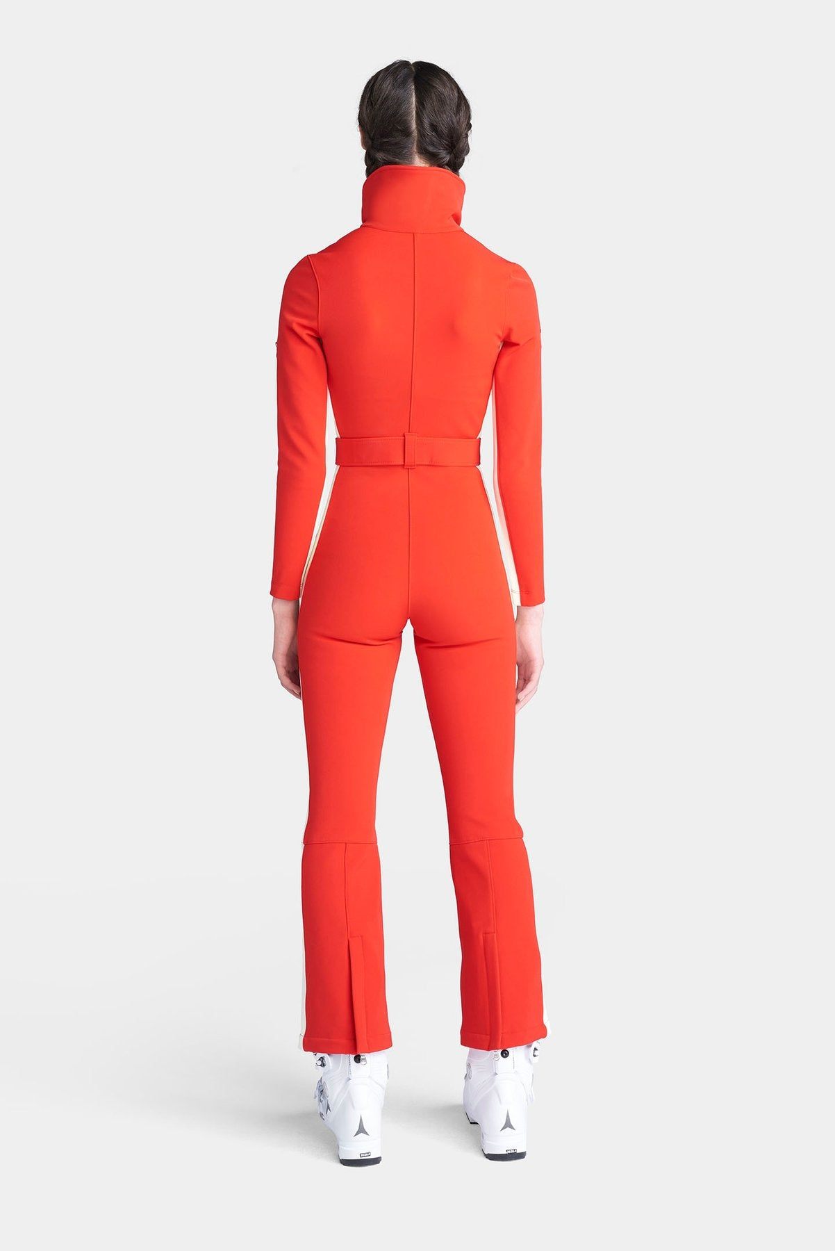 The Aspen OTB (Over the Boot) Ski Suit - Fiery Red