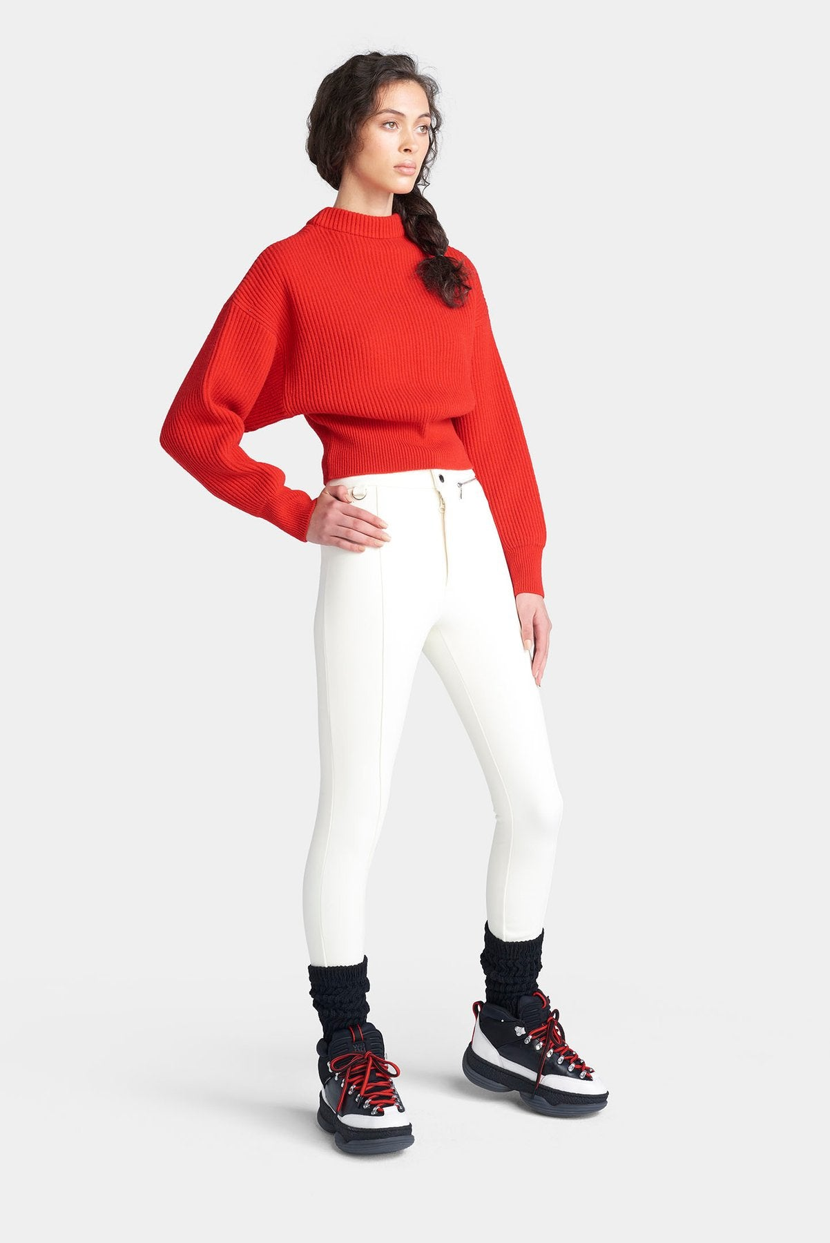 The Megeve Sweater - Fiery Red