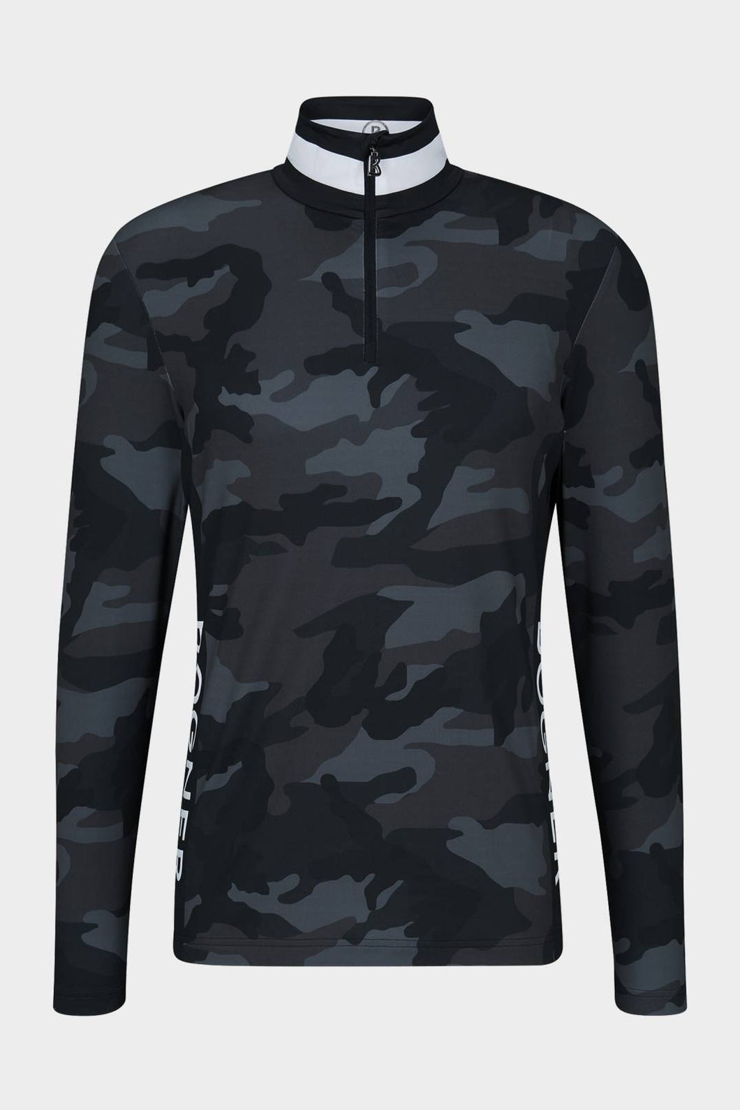 Verti Camo Print Top - black