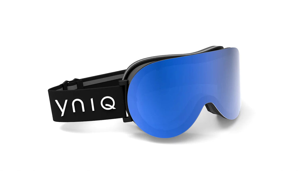 214 BLACK, BLUE UNIFORM MIRROR LENSE GOGGLES - BLUE