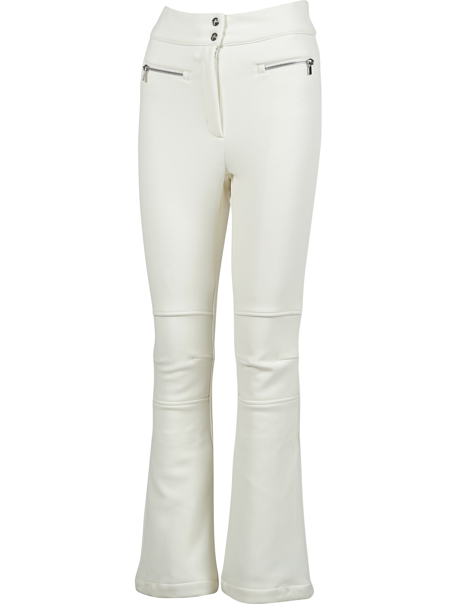 Elancia Fitted Zip Waist Detail Ski Pants - White