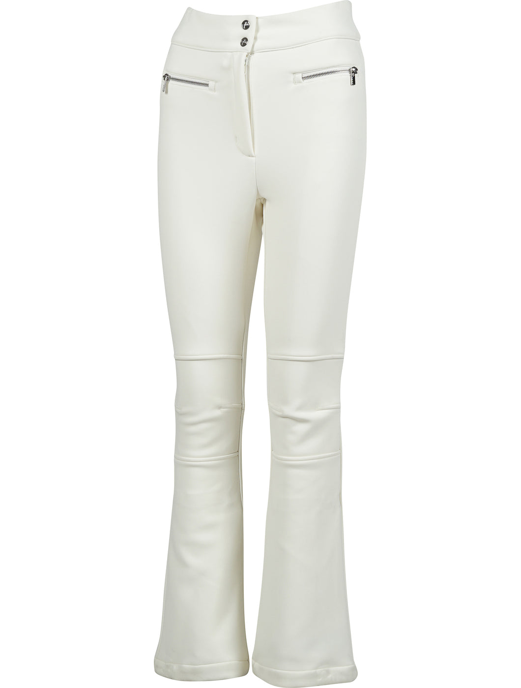 Elancia Fitted Zip Waist Detail pants - White