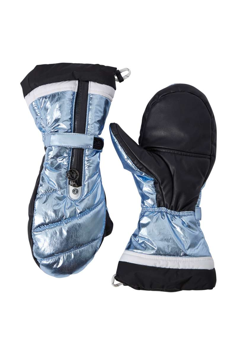Ante Metallic Ski Mittens - Dream Blue / Light Metallic Blue